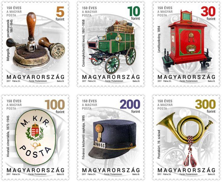 2017 Definitive Stamps: Postal History, Set of 6