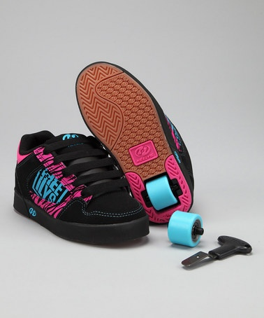 Skater-grrl style - and super fun! Heelys on #zulily today!