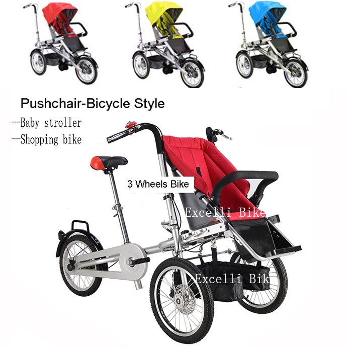 Folding Taga Bike 16inch Mother Baby Stroller Bike Carrier Bicycle carrinho de bebe stokke baby car bugaboo baby stroller 3 in 1 - $297