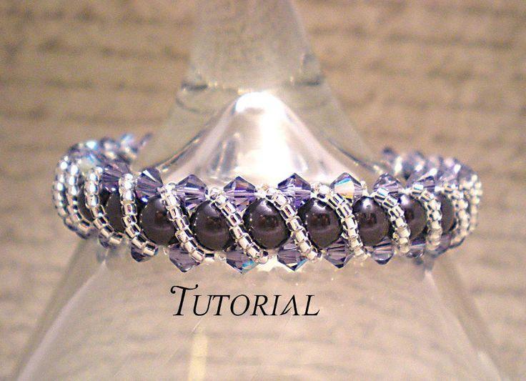 DIY Swarovski Crystal & Pearl RAW Bracelet with Overlay Available on NiteDreamerDesigns Craftsy Store!