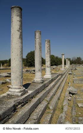 Ancient City of Philippi near Kavala, Greece - This is an important archaeological site of ancient Greece named after King Philippi II (father of Alexander the Great), ideal for history lovers. It is a popular tourist attraction and a must-stop on your next Eastern Mediterranean trip.