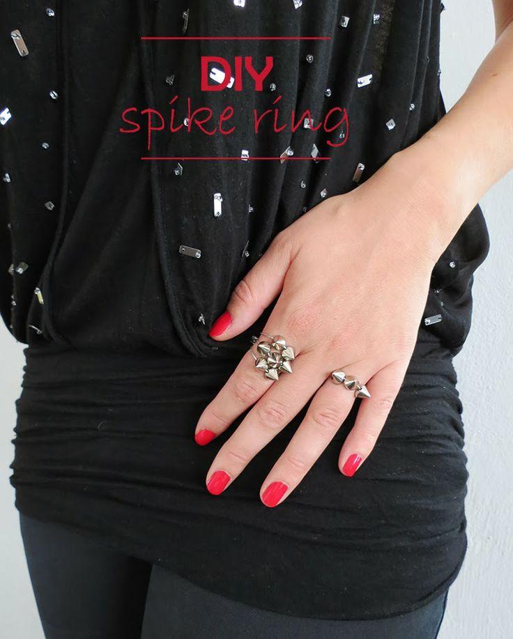 Ohoh Blog - diy and crafts: DIY spike ring