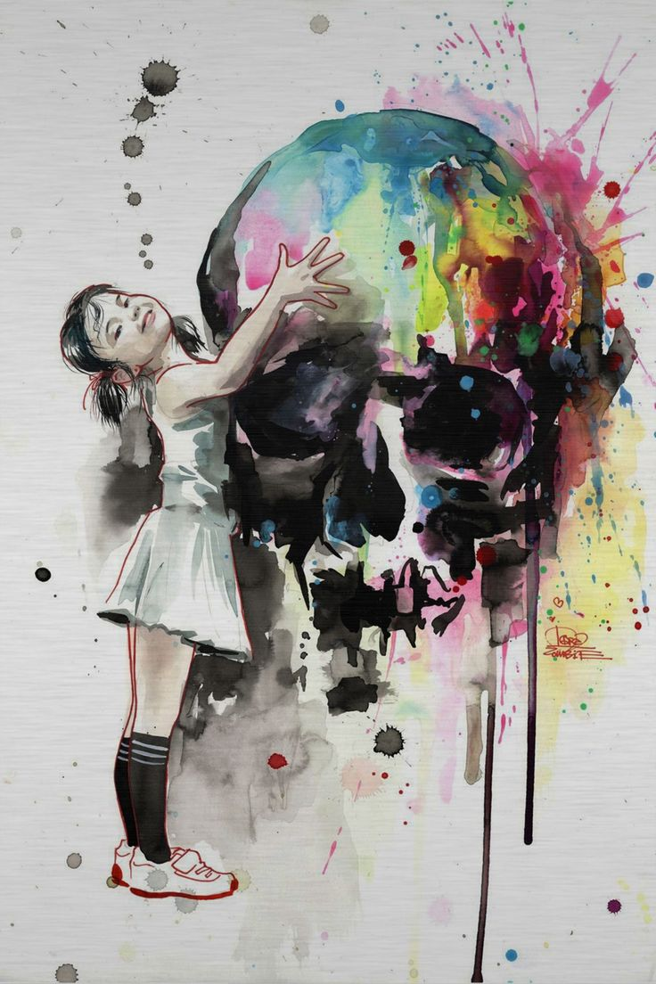 Girls Love Skulls by Lora Zombie | Eyes On Walls