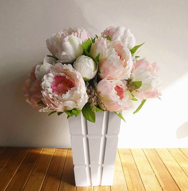 High Quality Peony,Bridal Bouquet,wedding Party Table Centerpiece,Christmas Home  Decoration Silk Artificial Flower Arrangement In Decorative.