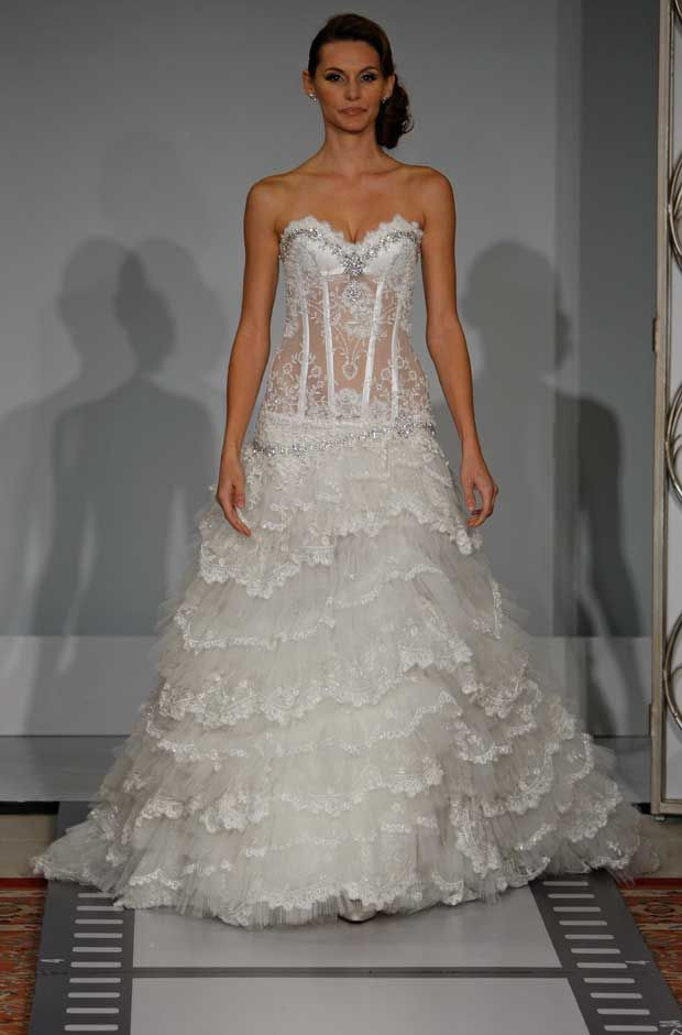 pnina tornai wedding dress weddingidea sheer corset