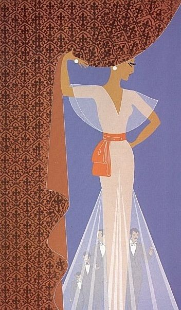 The Curtain by Erte, 1977