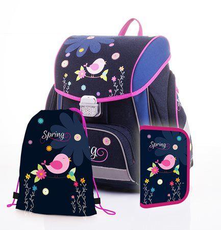 Krásný školní set Spring pro holčičky do první třídy v prémiové kvalitě od českého výrobce Karton P+P