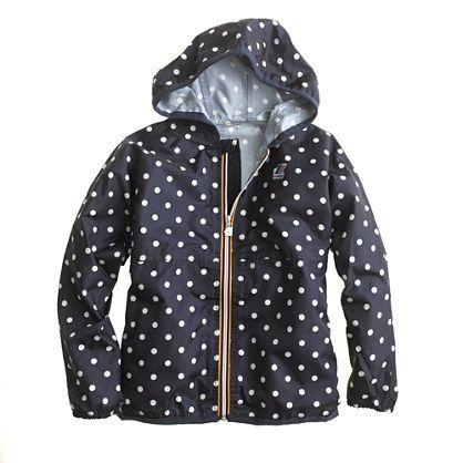 K-Way® for crewcuts jacket in polka dot
