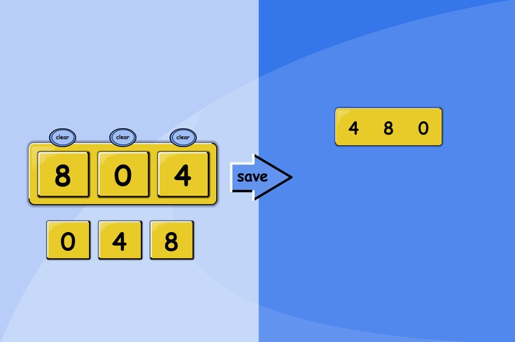 Making Numbers (Open): Make larger numbers by combining digits. An TESiboard activity to investigate which larger numbers can be created by combining digits. Choose from options to: include zero; use repeated digits; use 2-6 digits in total.