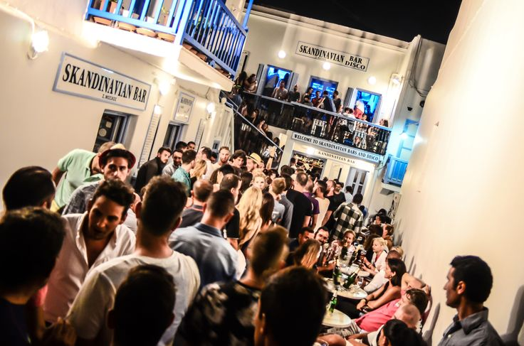 Skandinavian Bars & Disco leads the nightife of Mykonos since 1978.Its Comprised by two Bars an outside area and a club. #mykonos