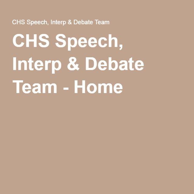 CHS Speech, Interp& Debate Team - Home