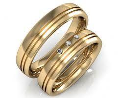 Resultado de imagen para anillos de boda en oro