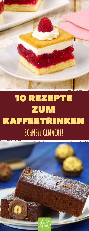 10 Rezepte zum Kaffeetrinken Schnell gemacht! #rez…