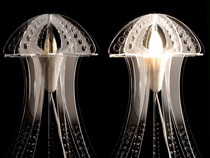 Transparent MEDUZA light - off and on