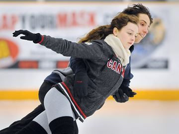 Olympic skaters come home to Barrie - Local Olympic ice dancers Mitchell Islam and Alexandra Paul were in Barrie this week to work on their routine in preparation for the World Figure Skating Championships in January.