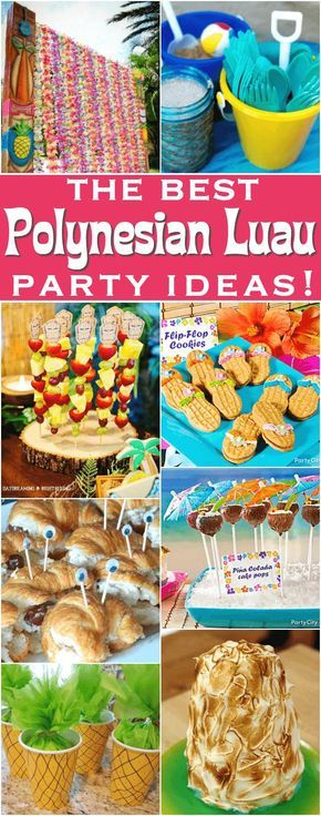 Polynesian luau party ideas | for kids | for adults | DIY luau ideas | food for luau party | cheap | backyard | Hawaiian party