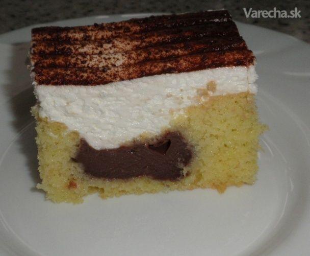 Pudingový koláč (fotorecept)