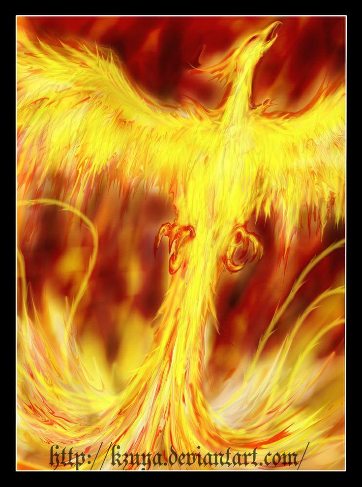 La leyenda del Ave Fenix relata la historia de un ave capaz de renacer de sus propias cenizas. Es un símbolo universal de la muerte generada por el fuego, la resurrección, la inmortalidad y el sol. También representa la de delicadeza ya que vive solo del rocío sin lastimar a ninguna criatura viviente.