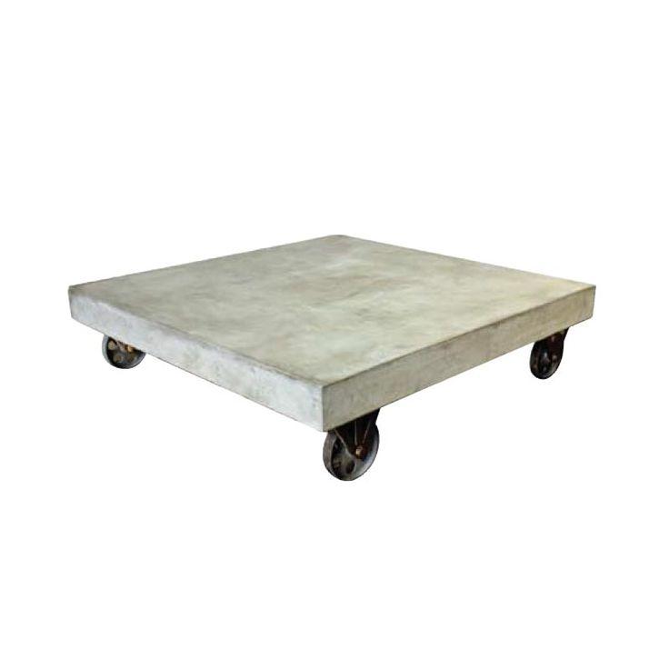 Tøft coffee table på hjul i fiber cement Bristo coffee table. For mer info og bestilling: www.krogh-design.no