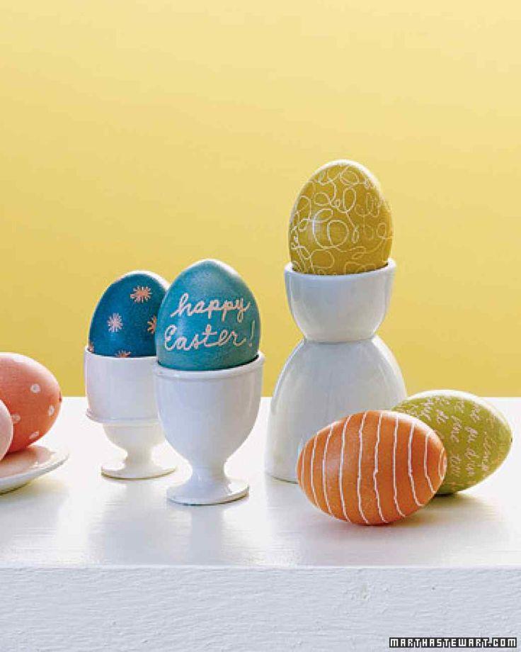 Wax-Resist Egg Dyeing Techniques