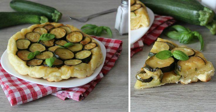Snadný italský cuketový koláč z listového těsta