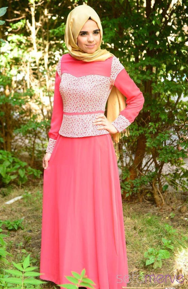 Tesettür Elbise Mercan 119.90 TL #sefamerve #tesettur #tesetturgiyim #elbise#yenisezon #2014 #Hijabdress #Hijab #newseason
