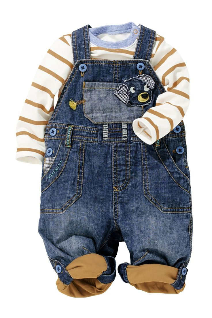 Buy Denim Dog Dungarees And Bodysuit Two Piece Set (0-18mths) from the Next UK online shop