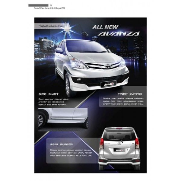 Bodykit Toyota All New Avanza