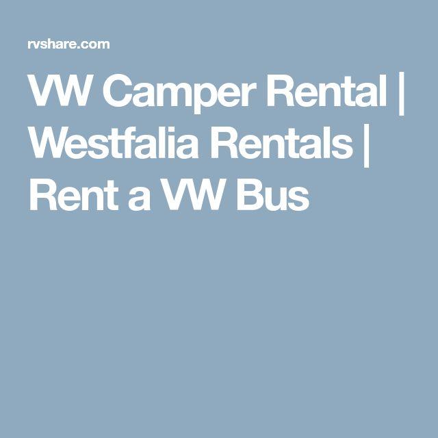 VW Camper Rental | Westfalia Rentals | Rent a VW Bus