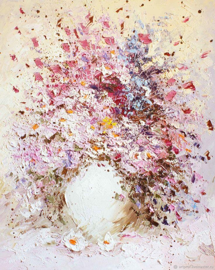 Купить Картина маслом Нежный зефир, 69х56см в интернет магазине на Ярмарке Мастеров