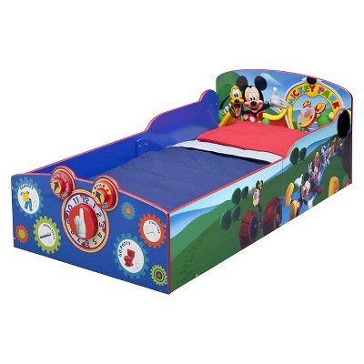 Disney Interactive Wood Toddler Bed Mickey - Delta Children, Blue