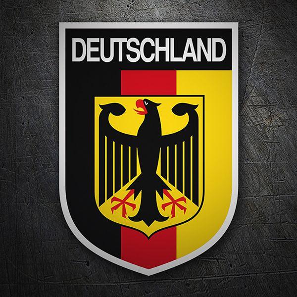 Escudo Bandera Alemania Diseno De Pegatina Alemania Pegatinas