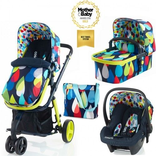 Cosatto Giggle 2, 3 in 1 Travel System Pram - Pitter Patter with FREE Hold Car Seat