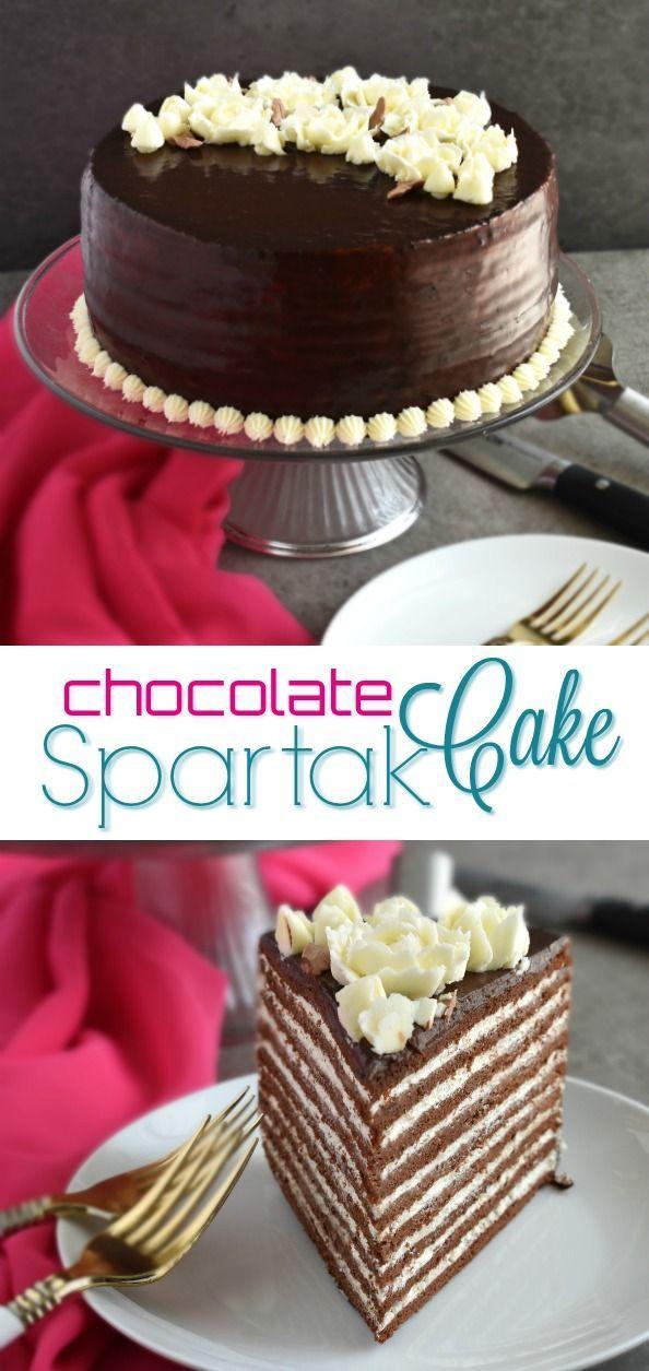 Chocolate Spartak Cake Olga In The Kitchen Recipe Almond Cakes Cake Lemon And Coconut Cake