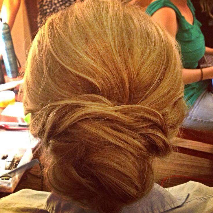 #elegant #twist #updo #bridesmaid #blonde #lowbun