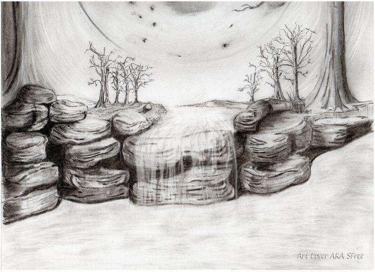Moon Light Waterfall by ArtLover1980