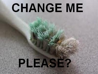 Always change your toothbrush at least every 3 months and replace it with one that is soft!
