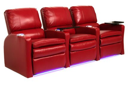 The valencia home theater seat comes with black tray for Space saving seating