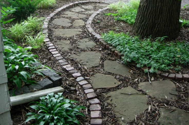 1000 images about outdoors stone walkway ideas on for Natural stone walkways