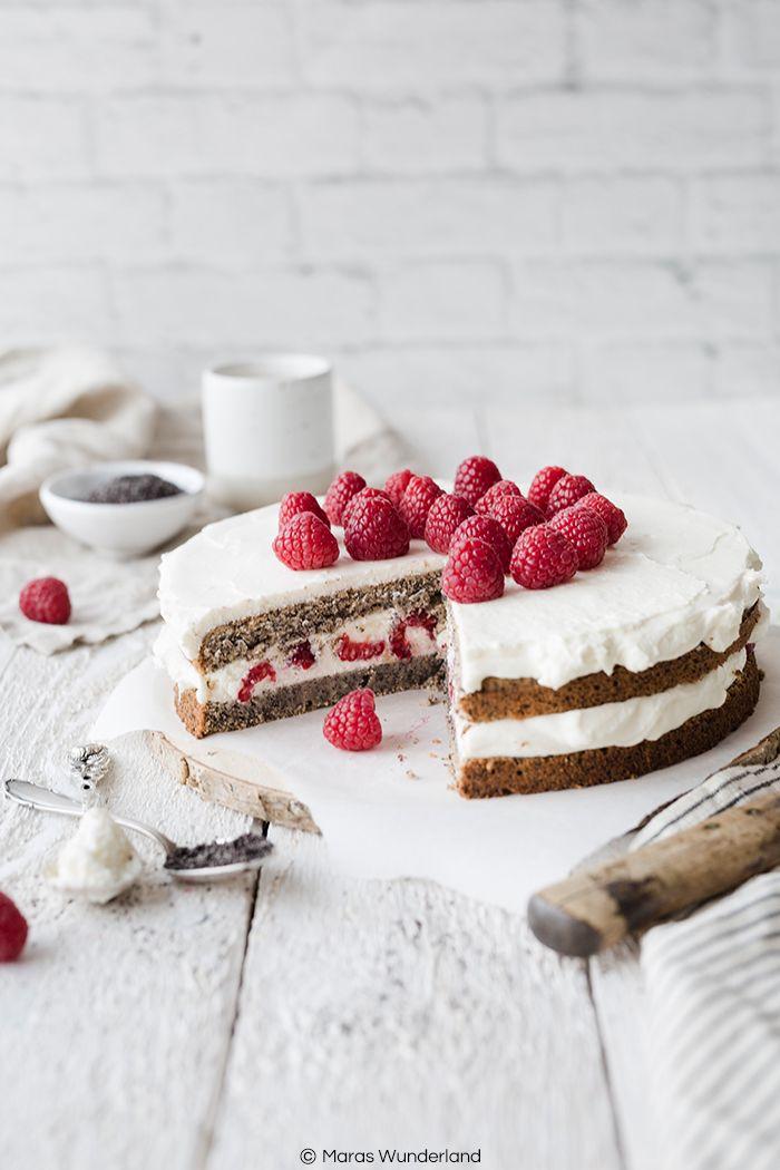 Himbeer Mohn Torte Mit Zitronencreme Rezept Kuchen Und Torten