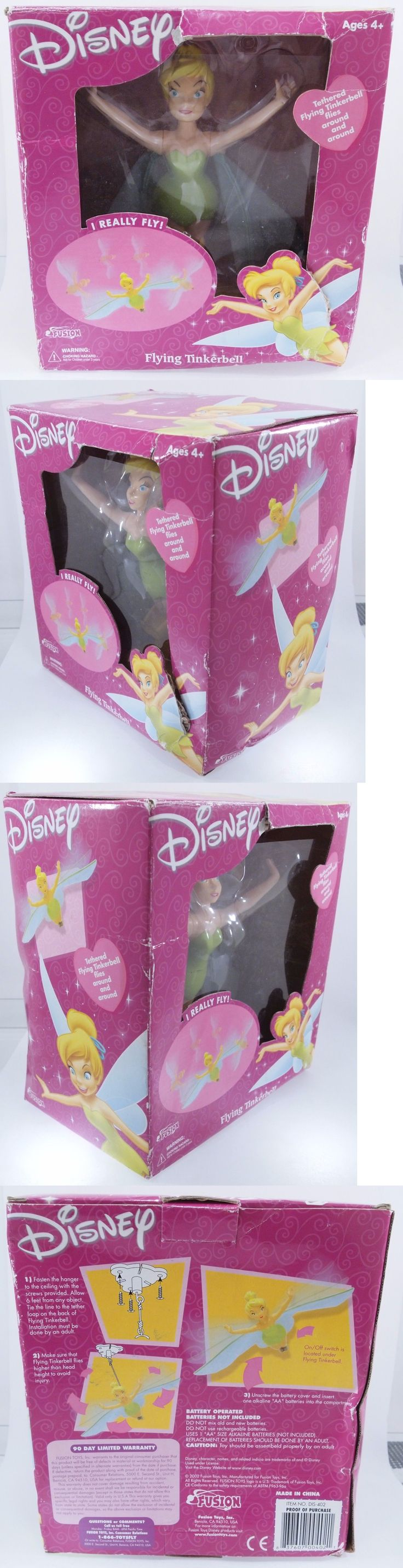Tinker Bell Peter Pan 146041: Rare Disney 2002 Tethered Flying Tinkerbell By Fusion Toys New In The Box! -> BUY IT NOW ONLY: $33.98 on eBay!