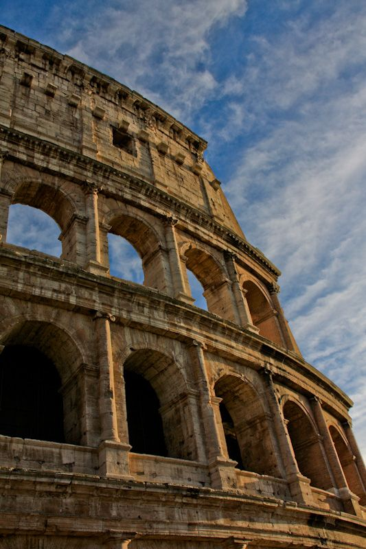 the colosseum in rome, italy. the most recognizable of rome's classical buildings. it is the most impressive arena the classical world has yet seen.