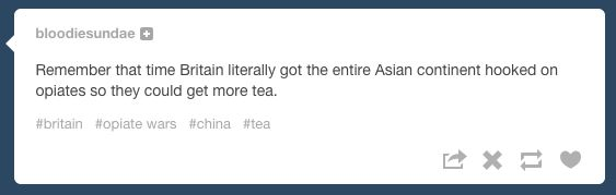 When they suggested another awkward reading of colonial history. | 29 Times Tumblr Completely Got What It Means To Be British