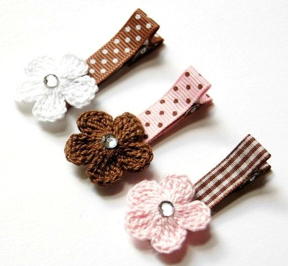 1000+ ideas about Crochet Hair Clips on Pinterest Hair Clips ...