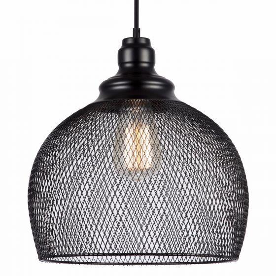 Awesome Lampada Recinto Large Black Mesh Pendant Light