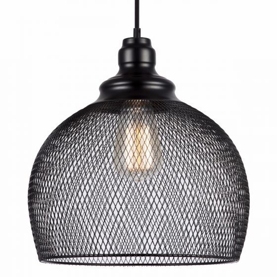 Lampada Recinto Large Black Mesh Pendant Light