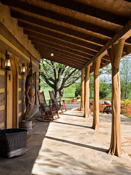 Log Home With Barn Wood And Western Decor Western Rustic