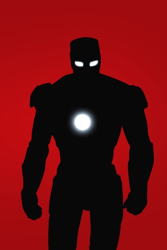 Iron Man in silhouette | Comics N Junk | Pinterest
