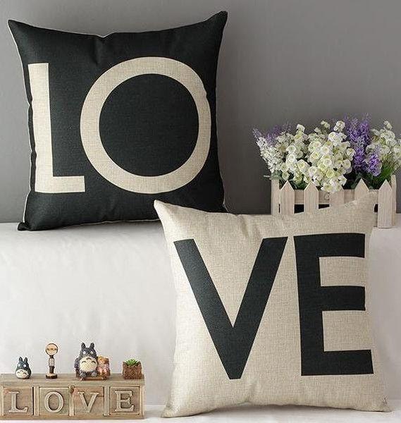 PODUSZKA LOVE black&white 2szt. - soulosophy - Poduszki