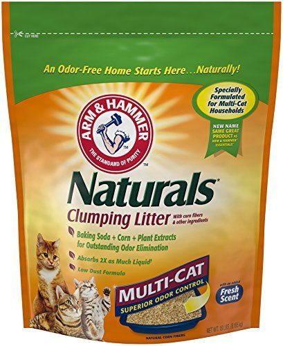 Arm & Hammer Naturals, Multi-Cat Litter, 18 Lbs - Arm & Hammer Naturals Multi-Cat Clumping Litter is so effective, even with multiple cats, you won't believe it's natural. It is formulated with a prioprietary blend of natural corn fibers that combine with advanced odor neutralizers and Arm & Hammer Baking Soda to effectively absorb urine and eli...